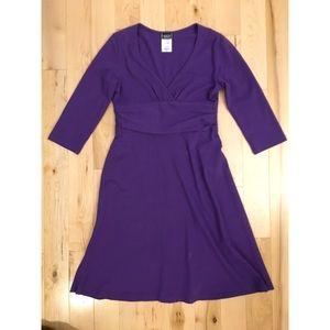Patagonia Margot Dress 3/4 Sleeve Purple Small S